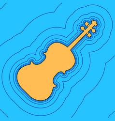 Violin sign sand color icon vector
