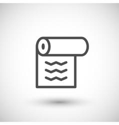 Wallpaper line icon vector image