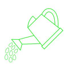 Watering can vector