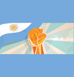 argentina fight and protest independence struggle vector image