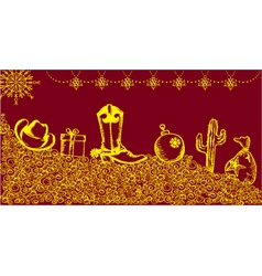 cowboy christmas card vector image