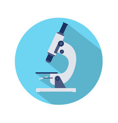 flat design of microscope icon vector image