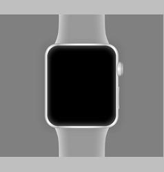 smart watch silver color vector image