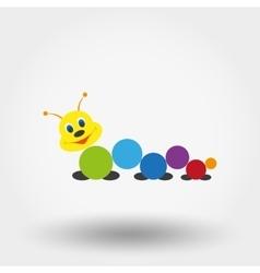 Caterpillar Baby toy vector image