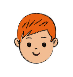 cute young boy kid smile character school child vector image