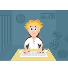 Programmer work at night vector image vector image