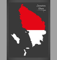 sumatera utara indonesia map with indonesian vector image vector image