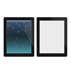 Two tablet pc on white background vector image