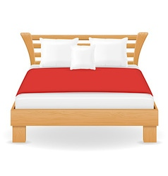 Double bed 04 vector