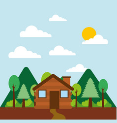 forest outdoor camp vector image vector image