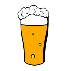 glass of beer icon icon cartoon vector image