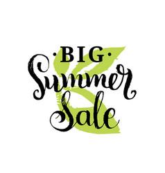 handwritten big summer sale on vector image