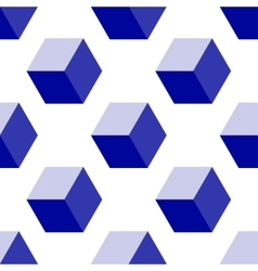 Isometric Cube Seamless Pattern Background vector image
