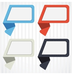 origami background Banner and speech bubbles vector image vector image