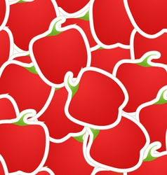 Red paprica seamless background vector image vector image