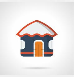 sea vacations hut flat color icon vector image vector image