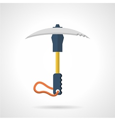 Colored ice axe flat icon vector image