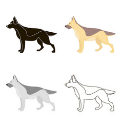 german shepherd icon in cartoon style for vector image vector image