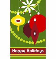 holiday shapes vector image vector image