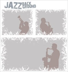 Jazz music background vector image vector image