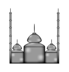 mosque sign icon vector image vector image