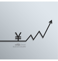 Ribbon yen sign and exchange the curve arrow vector