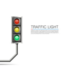 traffic signal on a white background vector image