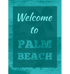 Tropical summer palm poster vector