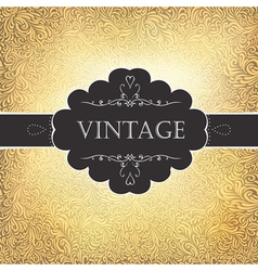 vintage golden card vector image