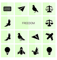 14 freedom icons vector