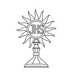 A communion depicting traditional christian symbol vector