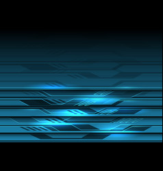 abstract blue circuit light futuristic design vector image