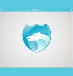 abstract polar logo vector image