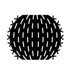 barrel cactus glyph icon vector image
