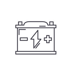 battery line icon concept battery linear vector image