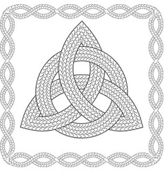 Black and white entwined celtic pagan symbol vector