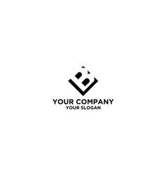Black bl logo design vector