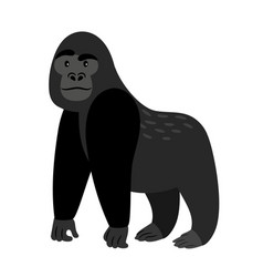 Black cartoon gorilla icon vector