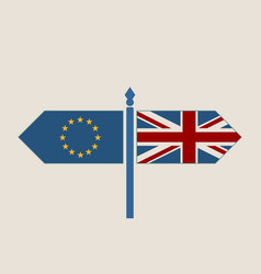 Britain exit from european union relative image vector