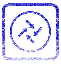 Centripetal arrows framed textured icon vector