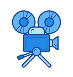cinema camera line icon vector image