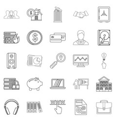 City man icons set outline style vector