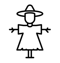 Classic scarecrow icon outline style vector