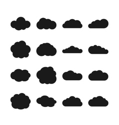 Cloud black icons vector image