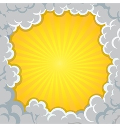 Cloud explosion yellow background Pop-Art Style vector