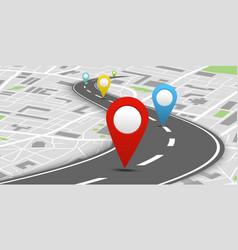 colorful navigation system concept vector image