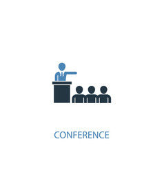 conference concept 2 colored icon simple blue vector image