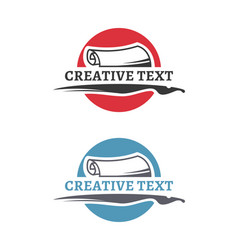 creative author emblem education symbol vector image