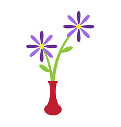 cute flower on a pot vector image