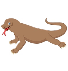Cute komodo cartoon vector image